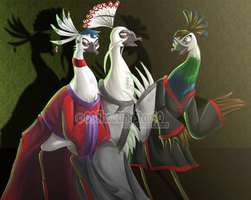 . Peahens and their Peacock . by ShootingStar03
