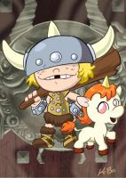 Dungeons and Dragons Bobby+Uni by kevinbolk