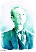 A Study in Watercolor - Mycroft Holmes by Gohush