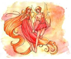 Cupid and Psyche by lilifane
