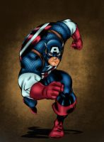 Captain America Colors by likwidlead