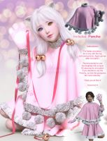 dForce Jingle Kitty Outfit part 4 of 4 - Poncho by Cherubit