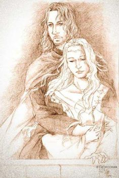 Faramir and Eowyn by PrideOfGondor