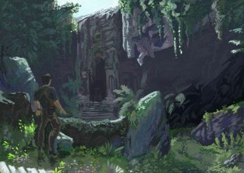 Impressionism painting landscape Uncharted by discipleneil777