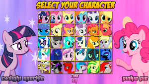 MLP: Friendship is Magic Character Select Screen by DashieMLPFiM