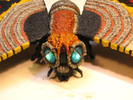 Close Up of Mothra's Head by godzillabadger