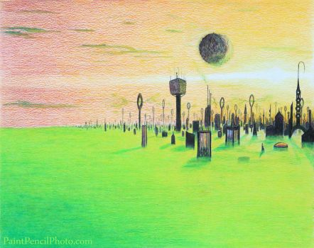 Untitled (Green Planet) by PaintPencilPhoto