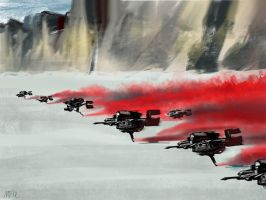 Star Wars The Last Jedi. 'Red Alert'  by Neilbrady