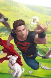 Superboy and Krypto by Artgerm