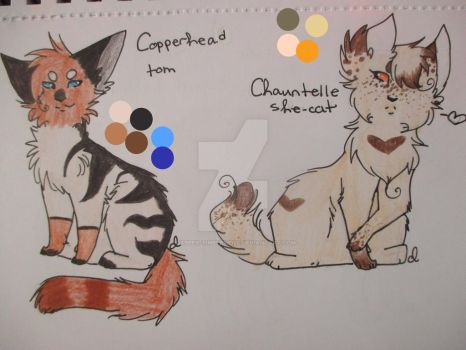 Copperhead and Chauntelle by dapper-timberwolf
