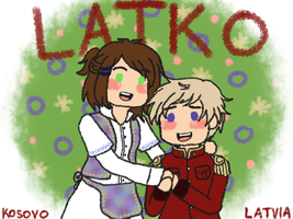 [APH] LatKo cuties [see description!] by melondramatics