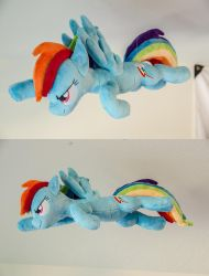 Flying Rainbow Dash Plush by makeshiftwings30