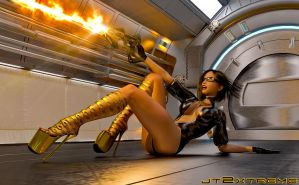 Nikita - Laser Battle by jt2xtreme