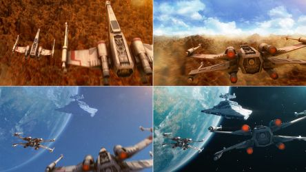 X-wing Animation in After Effects Element 3D by RyanLord