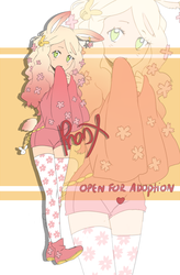 ADOPTS Cherry blossom bunny-lady [SOLD] by Tobi1313