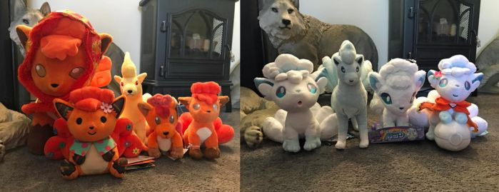 Vulpix and Ninetales plush collection by JamJams