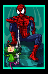Spider-Man vs. The Prince by AnutDraws