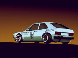 VW Scirocco Mk1 Bosozoku rear by sergoc58