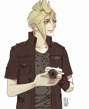 Prompto in Noct Clothes by Bev-Nap