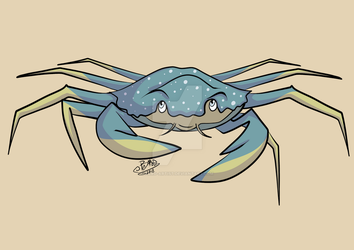 Zooly Art Challenge - Day 3: Crab by Bard-Artist