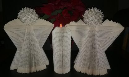 Folded book Angels and candle by BegetBaubbles