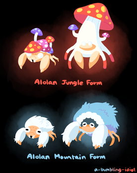 Alolan Paras and Parasect by A-Bumbling-Idiot
