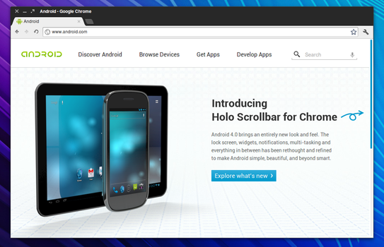 Holo Scrollbar for Chrome by illusionmist
