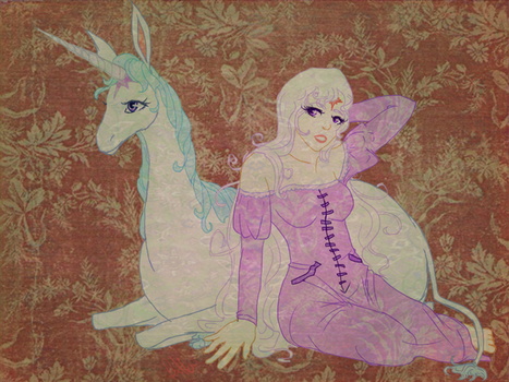 Lady Amalthea :: The Last Unicorn by Ryuzaki-Lawliet