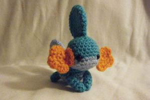 Mudkip Crocheted Doll by yourstarrysky