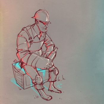 Engineer sketch 2 by ChemicalAlia