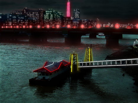 London of the Future Noir by countevil