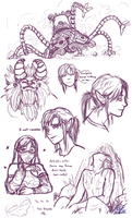 Breath of the Wild Doodles by BloodyDragon117