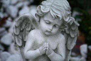 Angel statue stock 05 by Malleni-Stock