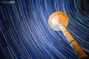 One and a half hour startrail under water tower by NorbertKocsis