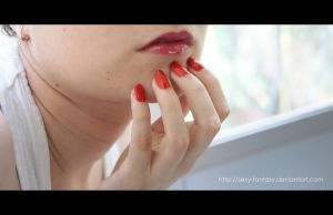 Red Nails Challenge by DoncellaSuicide