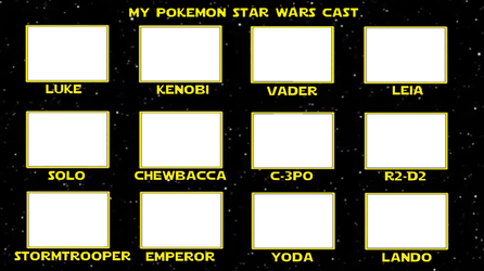 Pokemon as Star Wars Characters by whosaskin
