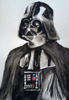 Darth Vader - Watercolor by Fenceclimber