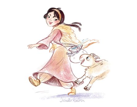 Snowwhite and Sheep by koel-art