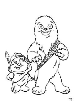 Wicket and Chewbacca by JTampa