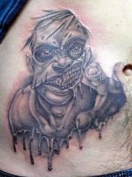 zombie attack tattoo by michaelbrito