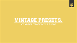 Vintage Presets by Softboxindia