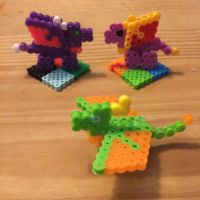 Melty Beads: Dragons by lavender42