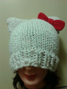 Hello Kitty inspired hat by PriestessRaven