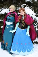 Elsa and Anna 1 by mystic-fae