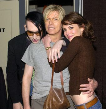 Manson and Bowie by Passion-4-Manson