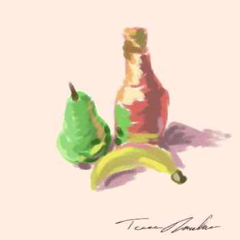 Pear, Drink, Banana by kalany
