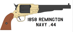 1858 Remington Navy .44 by bagera3005