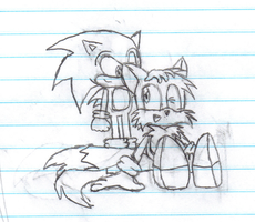 Doodle: Sonic and Tails by Kinuta-Uchiha