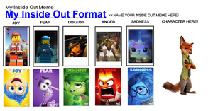 My Inside Out Meme Format (Zootopia/Lego Movie) by FoxPrinceAgain
