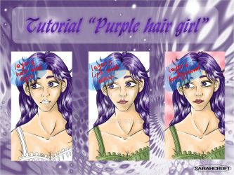 Tutorial Purple hair girl 2_2013 by SARAHCROFT